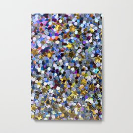 Rainbow Sequins Metal Print