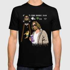 The Big Lebowski - The Dude Abides Black X-LARGE Mens Fitted Tee