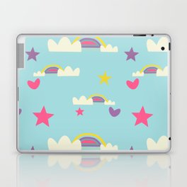 Rainbow fun blue Laptop & iPad Skin