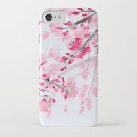 cherry blossoms iPhone & iPod Cases featuring Cherry Blossoms  by Catherine Holcombe