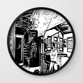 Black and white portrait Wall Clock