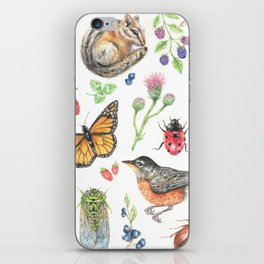 Flora and Fauna of Summer iPhone Skin