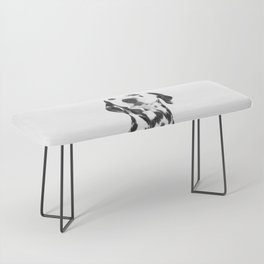 Black and White Dalmatian Bench