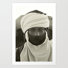 'African pride' - Mohamed from Timbuktu Art Print