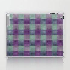 Pixel Plaid - Dark Seas Laptop & iPad Skin