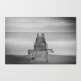 Tranquil Blues - BW Canvas Print