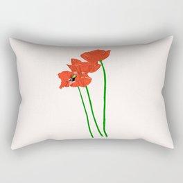 Lovely Poppies Rectangular Pillow