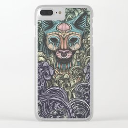 Bastet on the field Clear iPhone Case