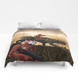 Hydroponic facility security patrol Comforters