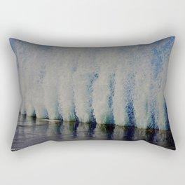 Lake Michigan Natural Fountains #4 (Chicago Waves Collection) Rectangular Pillow