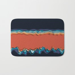 Fire goddess kisses the ocean Bath Mat