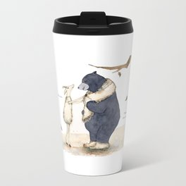 Winter gift for Bear Metal Travel Mug