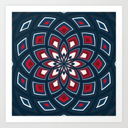Spiral Rose Pattern D 1/4 Art Print