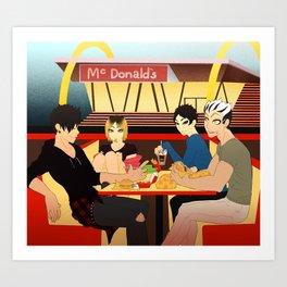 Tokyo Boys Mcdees Art Print