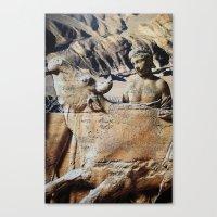 bull Canvas Prints featuring Bull by John Turck