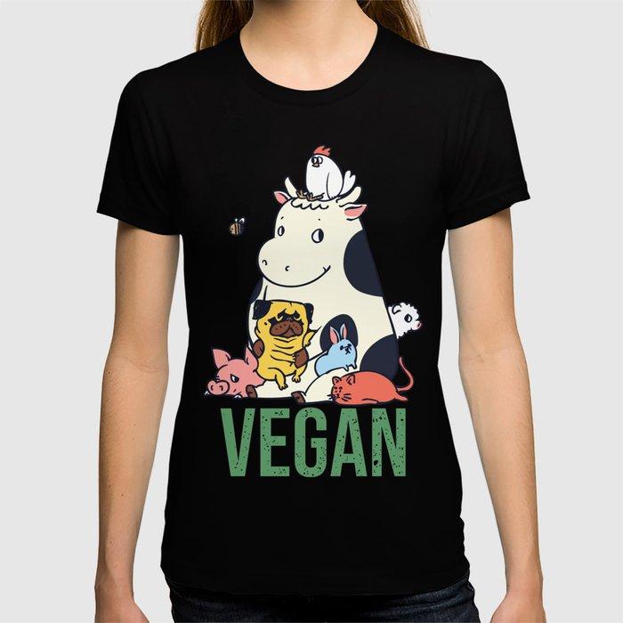 Pug and Friends Vegan T-shirt