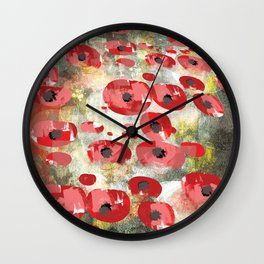 angela's poppies Wall Clock