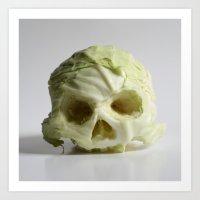 360. Skull of Cabbage Art Print