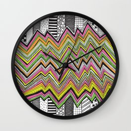 Stripes and Zig Zags Wall Clock