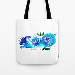 Three Blue Christchurch Roses Tote Bag