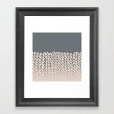 Half Knit Ombre Nat Framed Art Print
