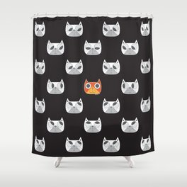 We are watching you. MEOW!!! Shower Curtain