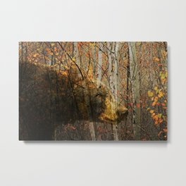 The Forest Bear Metal Print
