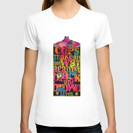 Cops, make art not war against black and brown lives.   T-shirt