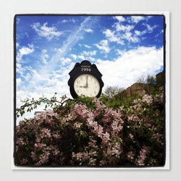 Time: the endless relentless that continue happening Canvas Print