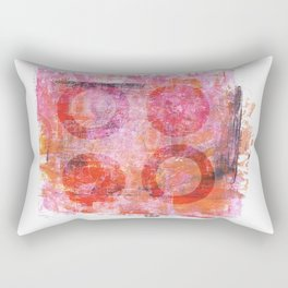 abstract circles painted artwork Rectangular Pillow