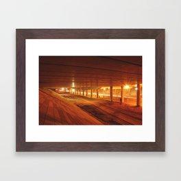 construction nightshot Framed Art Print