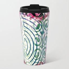 Ghosting green to pink Travel Mug