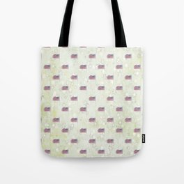 American Flag Aglow, stars in the dawn's early light, pattern Tote Bag