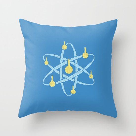 Atomic Tube Throw Pillow