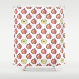Apple mood Shower Curtain