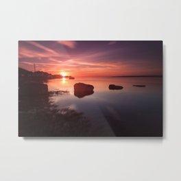 Loughor Estuary sunset Metal Print