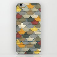 boats iPhone & iPod Skins featuring Boats by GLOILLUSTRATION