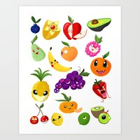 Fruit Monsters Art Print