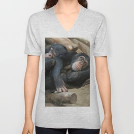 Chimpanzee_20141202_by_JAMFoto Unisex V-Neck