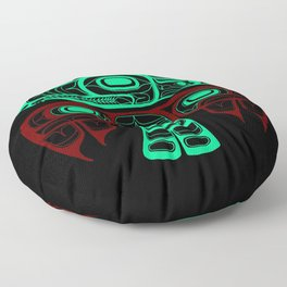 Native American style Tlingit Thunderbird Floor Pillow