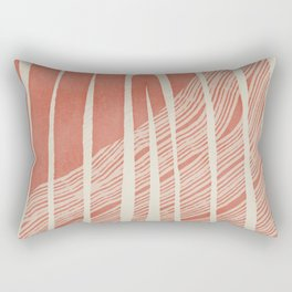 Crossing arch in reds and terracotta Rectangular Pillow