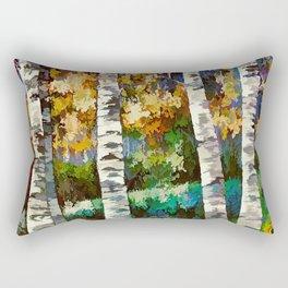Enchanted Birch Forest Rectangular Pillow