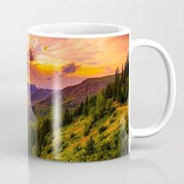 Beautiful Sunset Mountains Valley Landscape Coffee Mug