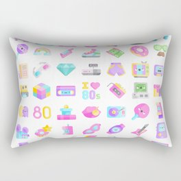 CUTE '80S PATTERN (RETRO THROWBACK EIGHTIES) Rectangular Pillow