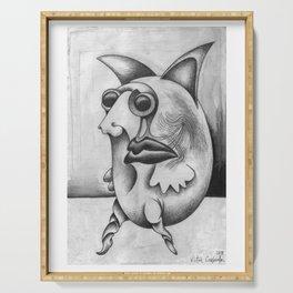 Pulga #48 de Jean Michel Basquiat estilo Corleone Serving Tray