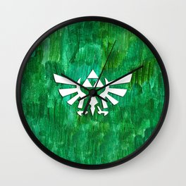 Zelda Triforce Painting Wall Clock