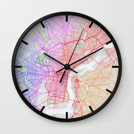 Philadelphia City Map of the United States - Colorful Wall Clock