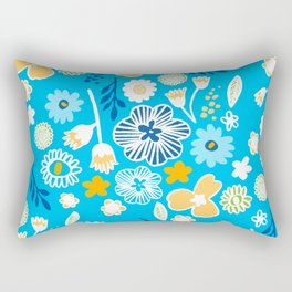 swedish summer blue Rectangular Pillow