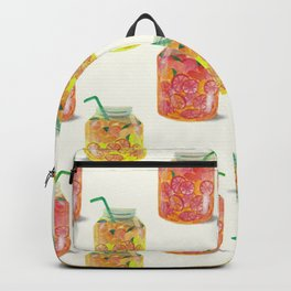 Smoothie glass jar pattern Backpack