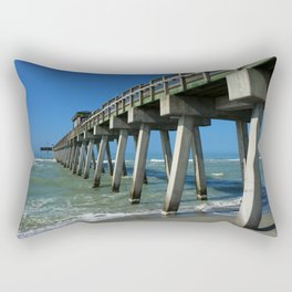 Fishing Pier - Venice Florida Rectangular Pillow